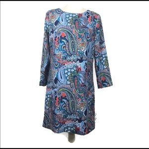 🌴NWT J Crew Summer Paisley Print Shift Dress